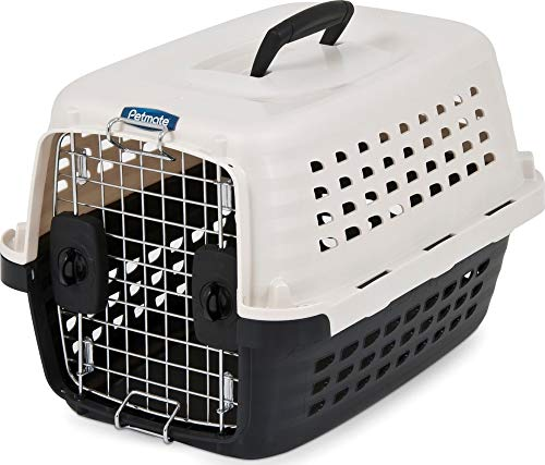Petmate Compass Kennel, PEARL WHITE/BLACK (41031),UP TO 10LBS