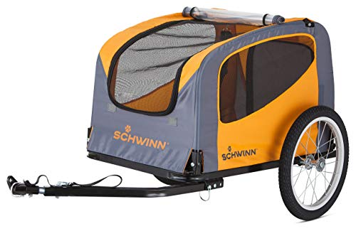 Schwinn Rascal Bike Pet Trailer, For Small and Large Dogs, Small, Orange